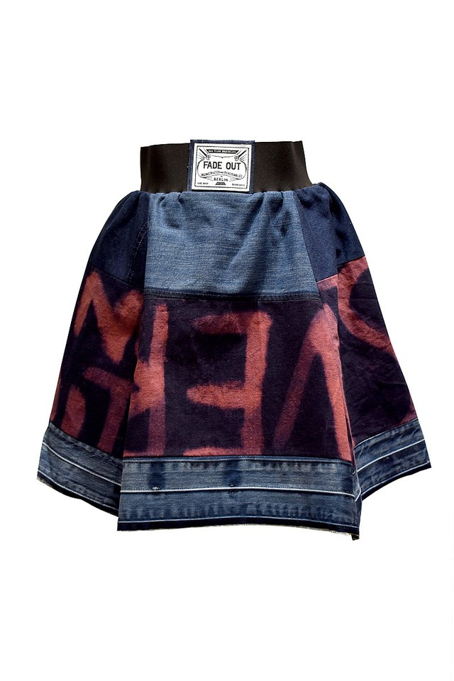 FADE OUT Label / Fluo Sangay Skirt / Pink blue