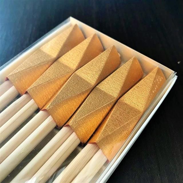 お箸飾り5個セット・祝い箸付き 鉱石(金)