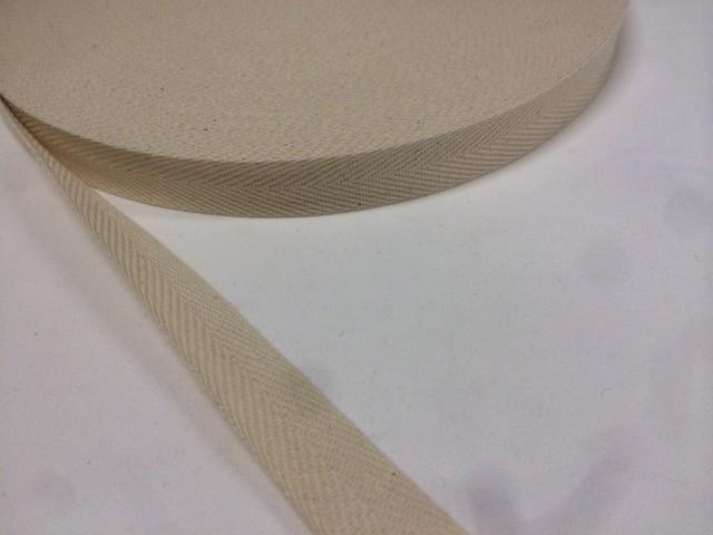 綿 コットン 杉綾 (綾テープ) 1㎜厚 50㎜幅 50m巻
