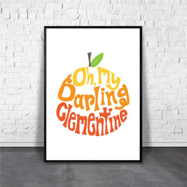 アートポスター Clementine(クレメンタイン)デザイン