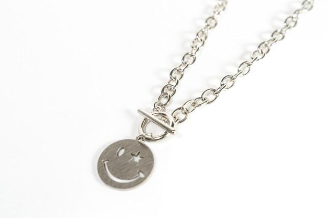 【316L smile chain necklace】 / SILVER