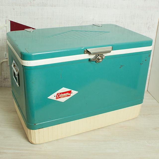 コールマン ビンテージ スノーライト クーラー アクア 54qt 1964年製 / Coleman vintage snowlite cooler Aqua 54qt [Z02]