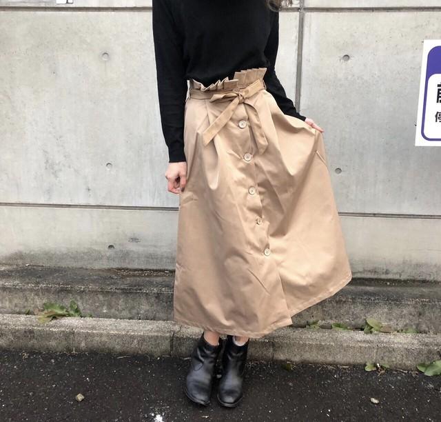 ◆予約◆front bottons&ribon skirt