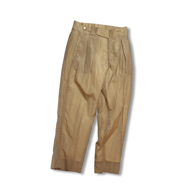 Cropped slacks  [ Beige ]