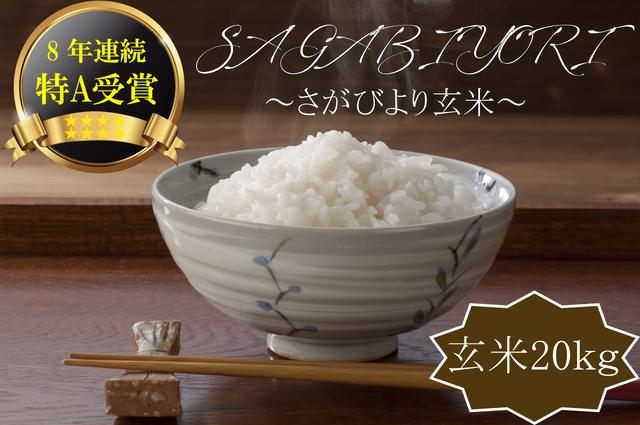 E588 【H29収穫米】みやき町産『さがびより(玄米40kg)』8年連続特A受賞