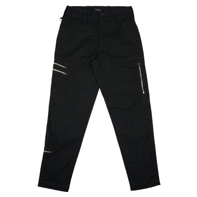 【OR GLORY】 ベイカーパンツ テイパード ジッパーパンツ 〈Black〉