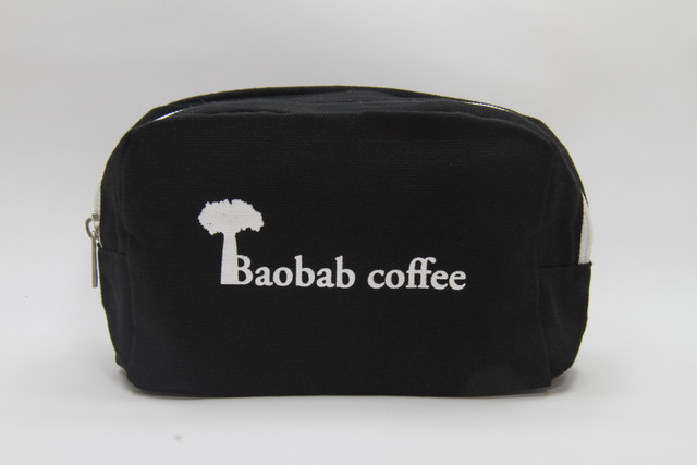 Baobabcoffee キャンバスファスナーポーチ ブラック