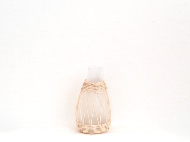 POSHLIVING ポッシュリビング / 花瓶  フラワーベース ラタンフロストベース 22679