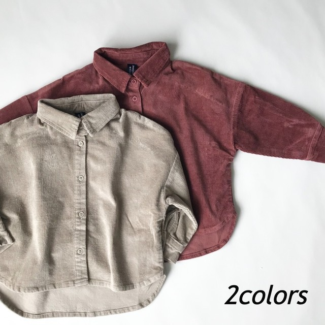 ニュアンスカラーコーデュロイシャツ【T116】