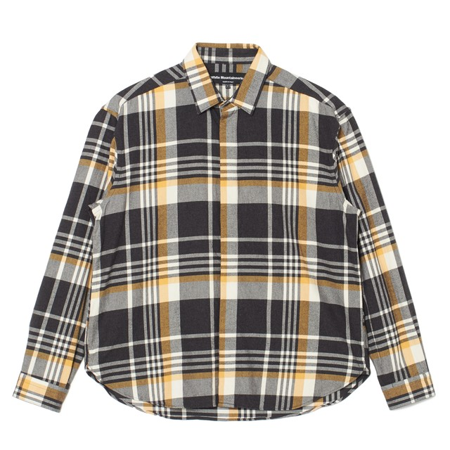 CHECK FLY FRONT SHIRT - YELLOW