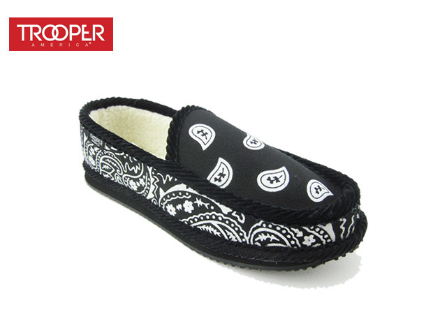TROOPER AMERICA| Bandana SLIPON Faux FUR (Black)