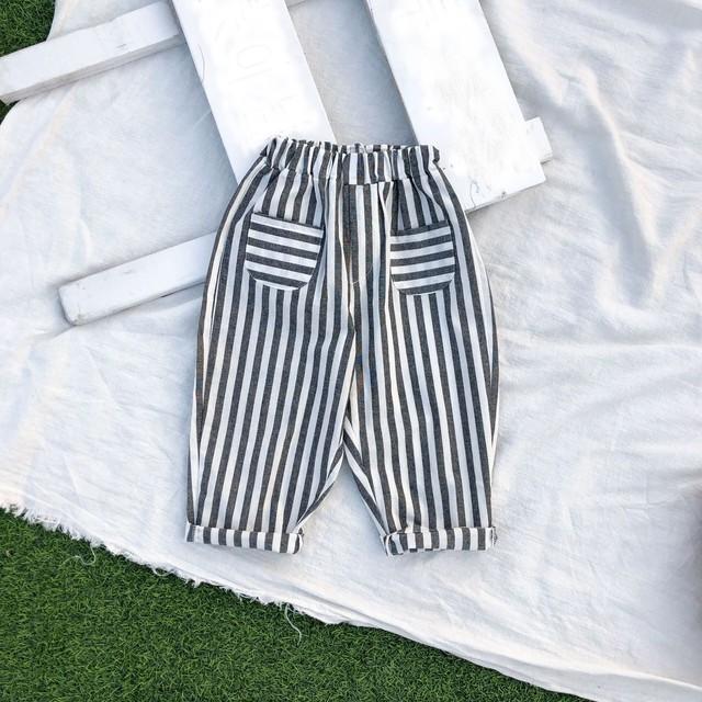 送料無料♡韓国服 ストライプ カジュアル パンツ  サイズ80~120