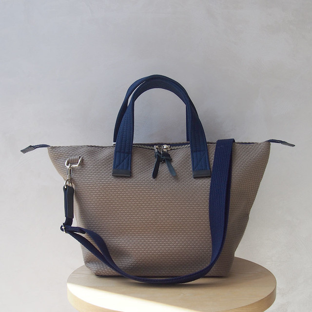 CaBas N°33 Bowler bag small + Shoulder strap khakiBeige/Navy
