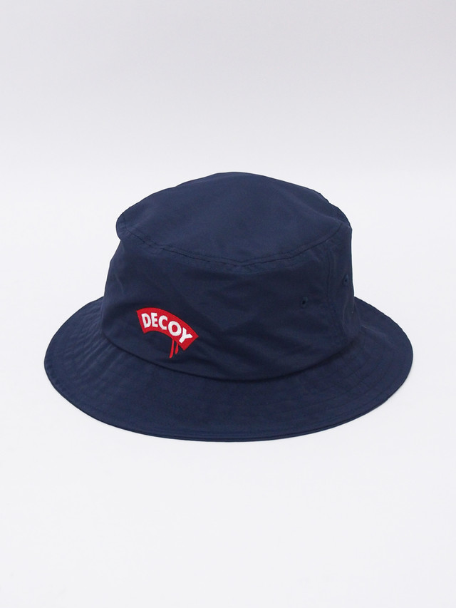 DECOY & CO. (デコイアンドシーオー) Tears BUCKET HAT / NAVY×RED D93450-83