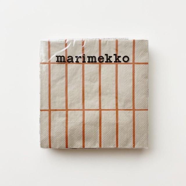 2020秋冬新作【marimekko】ランチサイズ ペーパーナプキン TIILISKIVI リネン×カッパー 20枚入り