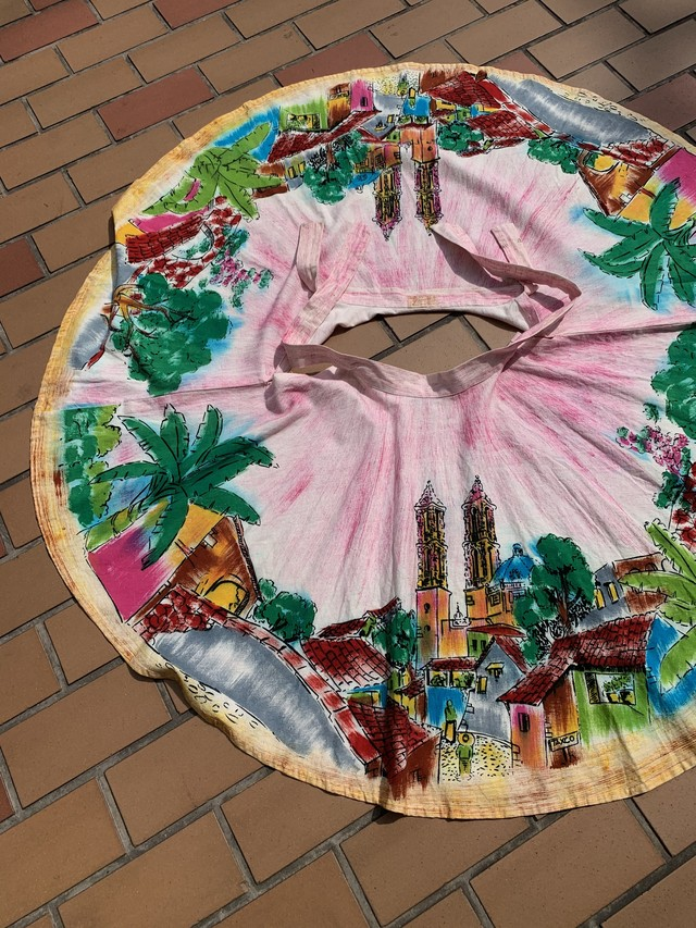 Mexican hand paint skirt [1101]