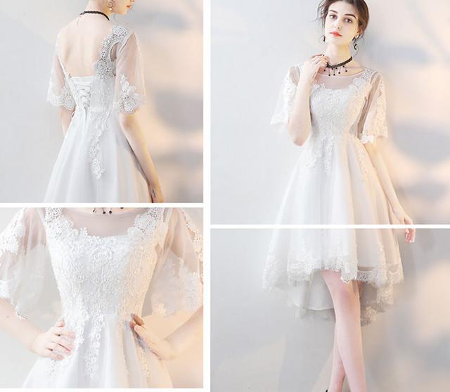 パーティー 花柄 レース 半袖 ドレス 結婚式 二次会 結婚式ドレス お呼ばれコーデ ワンピースパーティー パーティードレス 大人女子 結婚式アイテム