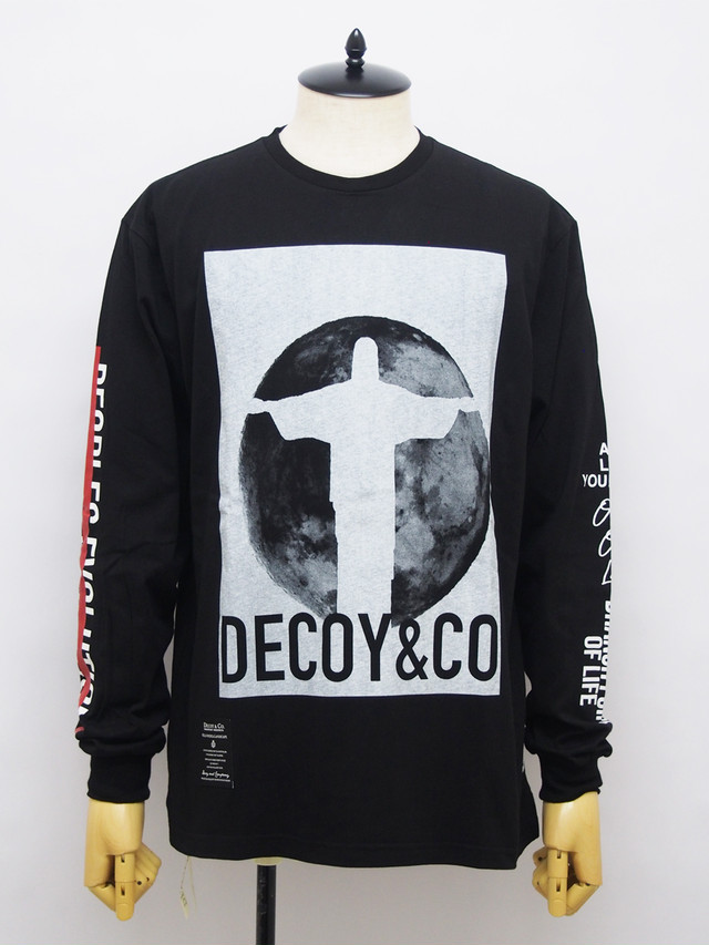 DECOY & CO. (デコイアンドシーオー) JESUS AND MOON LONG SLEEVE TEE / BLACK D63506-05