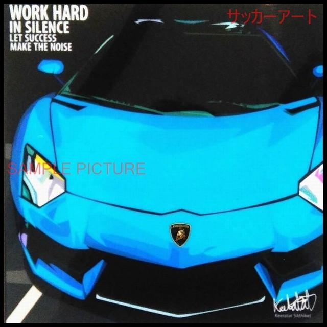 【51*51cm 特大サイズ】 グラフィックアートパネル ランボルギーニ Lamborghini 輸入車デザイン 木製 壁掛け ポスター (004-064)