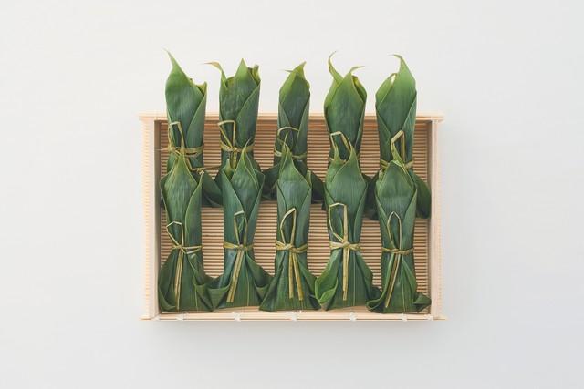 笹包みわらびもち 祥緑(10本)竹すだれかご入り