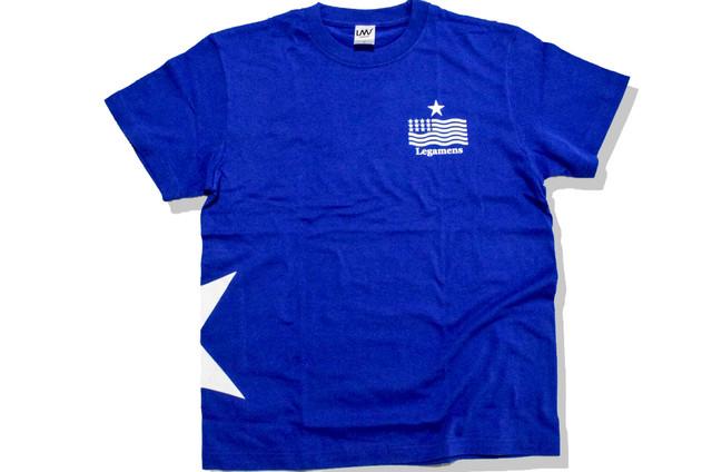 【STAR logo T-shirt】blue