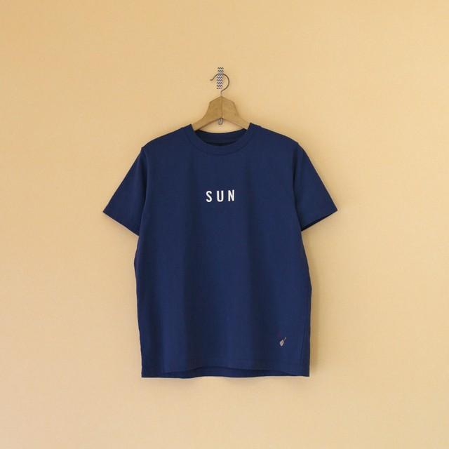 快晴堂 カイセイドウ 海上がりUNI Tシャツ SUN・ネイビー