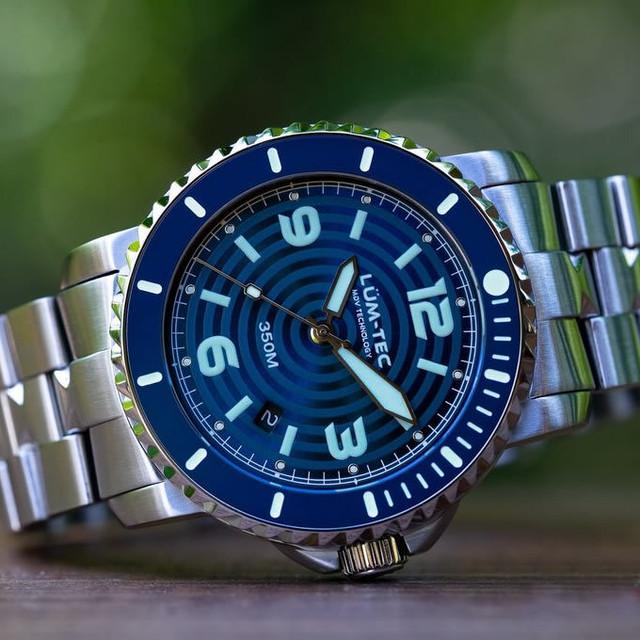 【世界限定100本】【即納品】350M-2 ブルー 43MMケース 316Lステンレス 自動巻き スイス製 Sellita SW200ムーブメント採用 350M防水 ダイバーズウォッチ メンズウォッチ 腕時計【LUM-TEC/ルミテック】