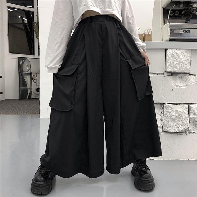 【ボトムス】ストリート系暗黒系無地ダンスカジュアルパンツ32215041