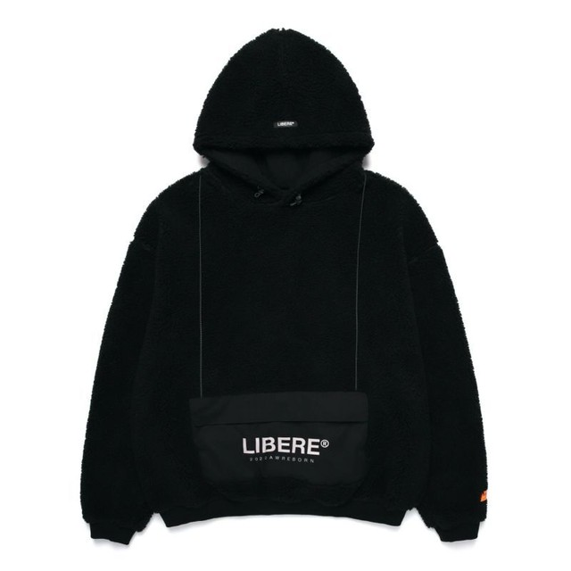 POCKET SHERPA HOOD JACKET / BLACK