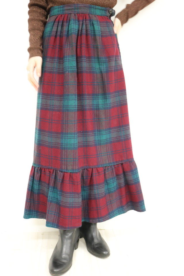 check design skirt / SK11260029