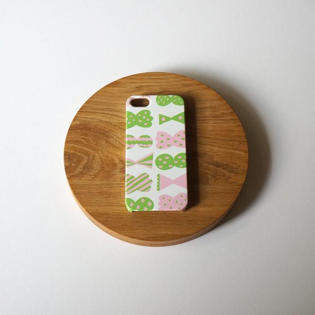 candy butterfly ( pink × green ) ハードケース型スマホケース【受注生産】★ Lサイズは+400円