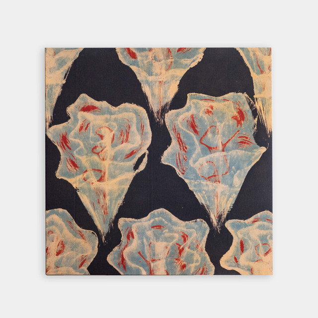Shiori Mukai Textile パネル 065 向井詩織 ブロックプリントパネル 約72.5×72.5cm
