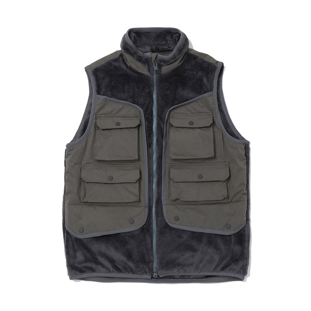 GORE-TEX INFINIUM FLEECE LUGGAGE POCKET VEST - GRAY