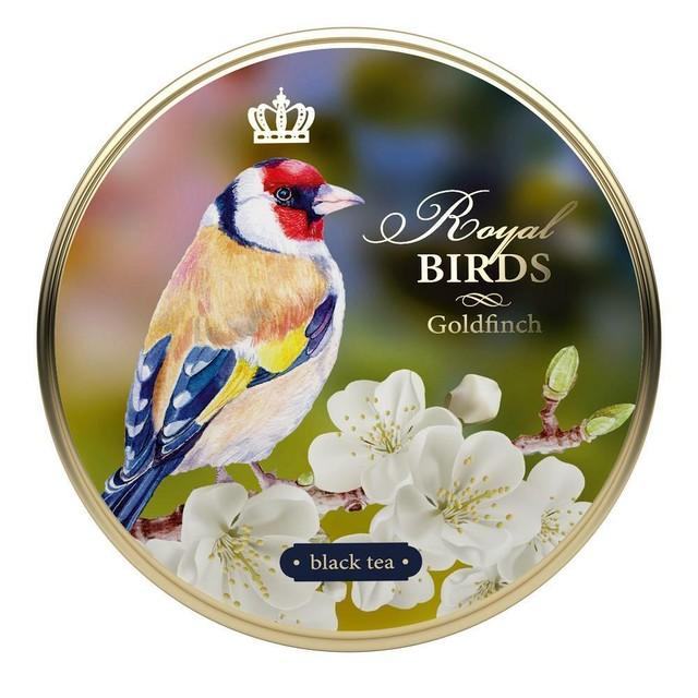 【インポート商品】リチャード・ロイヤル・バーズ セイロン紅茶缶 (鳥柄/GOLDFINCH) 40g