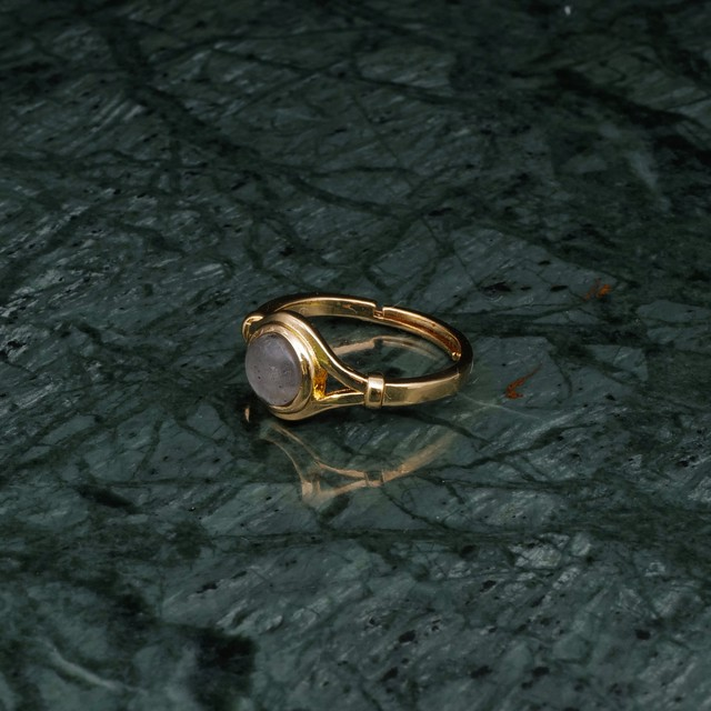 SINGLE MINI STONE DECO RING GOLD 008