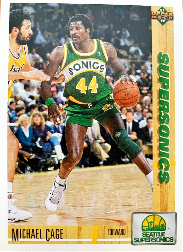 NBAカード 91-92UPPERDECK Michael Cage #127 SUPERSONICS