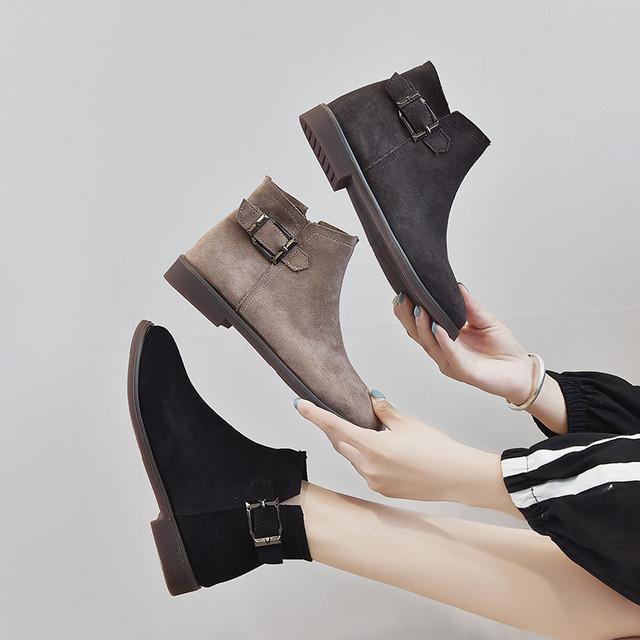 【shoes】レトロイングランド風個性デザインブーツ24977672