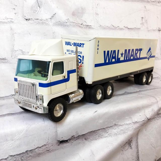 品番4158 WALMART トラック おもちゃ ミニカー トイ ホワイト ヴィンテージ