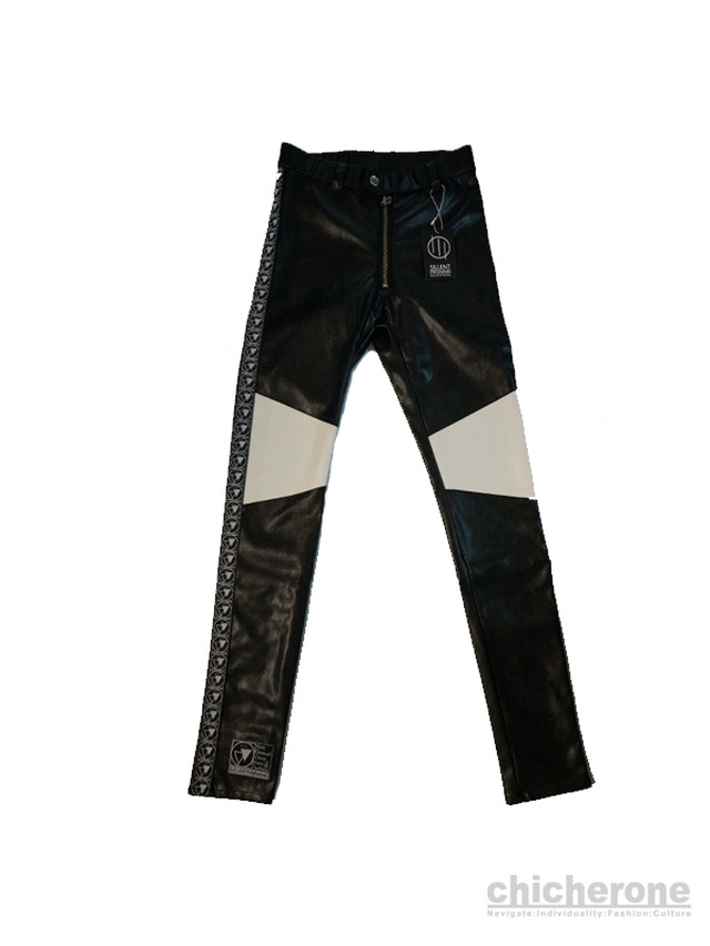 【SILLENT FROM ME】 HOOKY -Legging Pants-  BLK&WHT