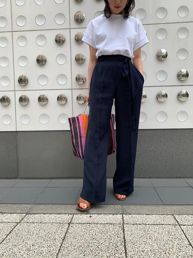 【予約】centerpress straight pants / navy (8月上旬発送予定)