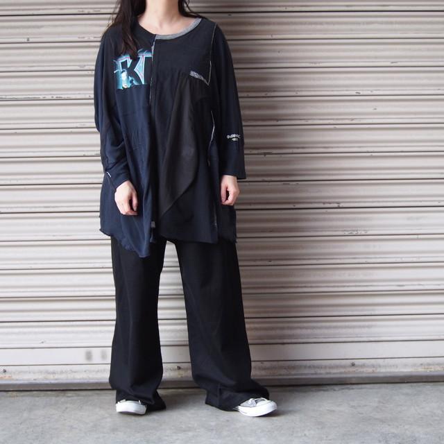 【sandglass】cord T-shirt (white) / 【サンドグラス】コードTシャツ(ホワイト)