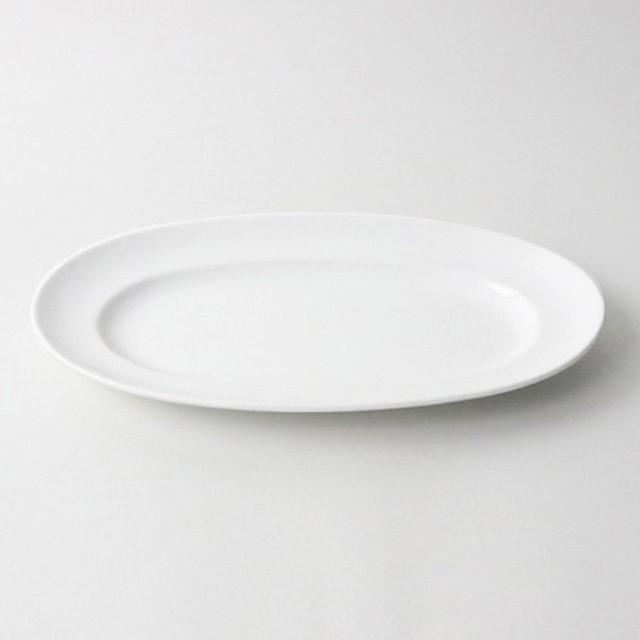 【5241-0000】強化磁器 28cm オーバルプレート 白