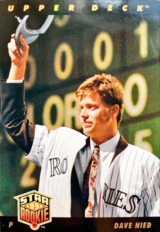 MLBカード 93UPPERDECK Dave Nied STAR ROOKIE  #027 BRAVES