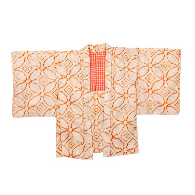 HAORI:羽織り[総絞り](朱色)