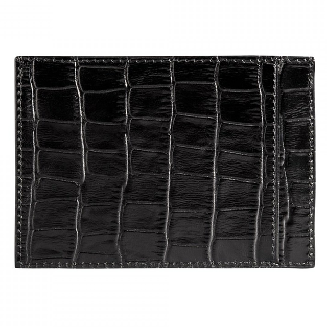 ゴールドブラック(GOLDBLACK) CARD HOLDER BILL CROCO BLACK