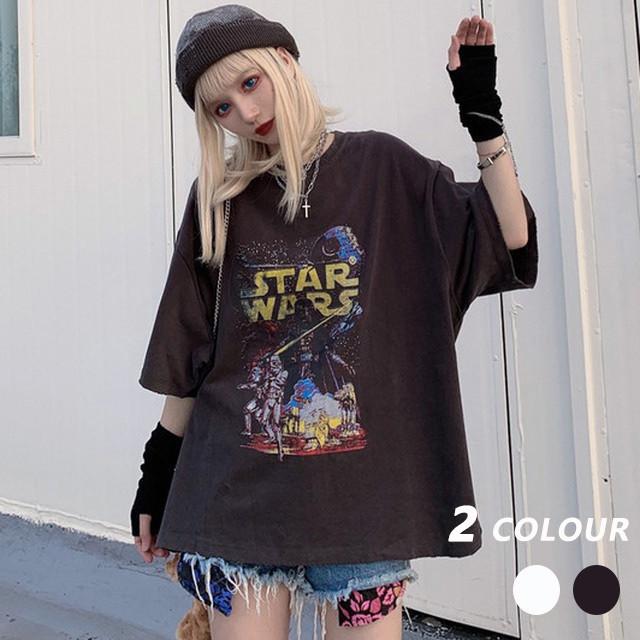 【トップス】韓国系原宿風bf半袖ラウンドネックプルオーバーTシャツ29176529