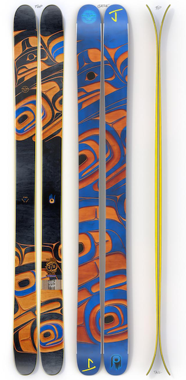【予約販売】J skis -オールプレイ「シダー」フィル・グレイ x  Jコラボ限定版スキー