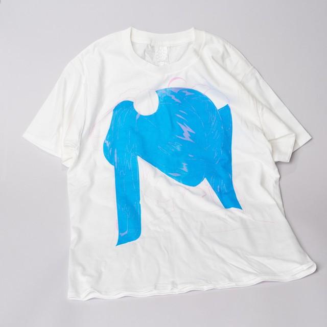 円井テトラ / 「フリーネムソンTシャツ」(ブラック / オフホワイト)
