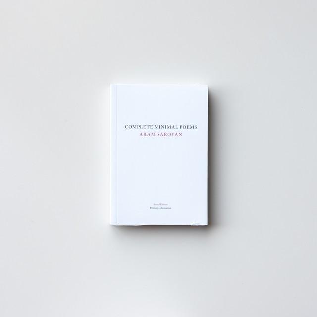 Complete Minimal Poems by Aram Saroyan