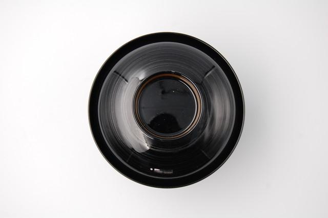 黒銀かすり立金吸物椀